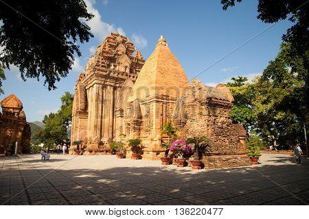 The temple complex Po Nagar, Ponagar Cham tower. Nha Trang