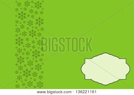 Christmas Background. Elegant Illustration in green tones.
