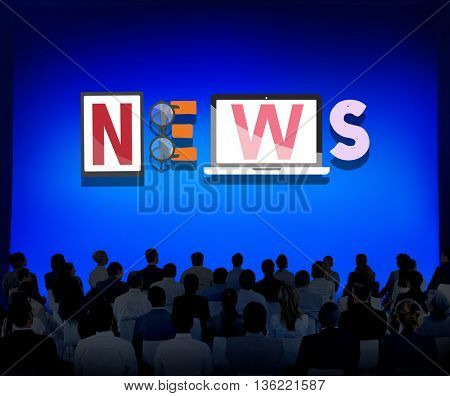 News Update Information Global Communication Concept