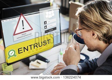 Entrust Computer Screen Concept
