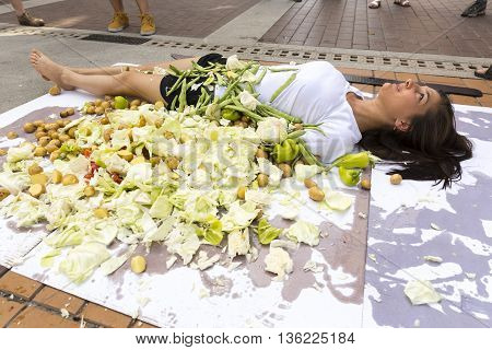 Vegan Vegetarian Humans Cooking Protest