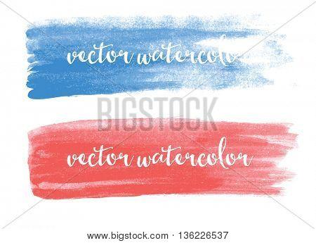 Watercolor stroke. Vector Illustration.