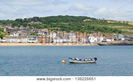 Beautiful town Lyme Regis in Dorset England