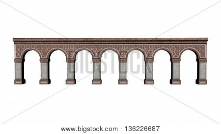Castle arches isolated in white background - 3D render