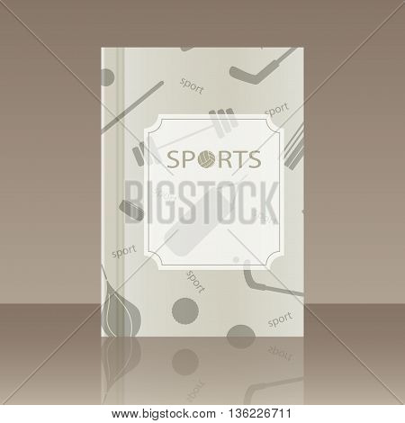Book about the sport. Realistic image of the object with reflection