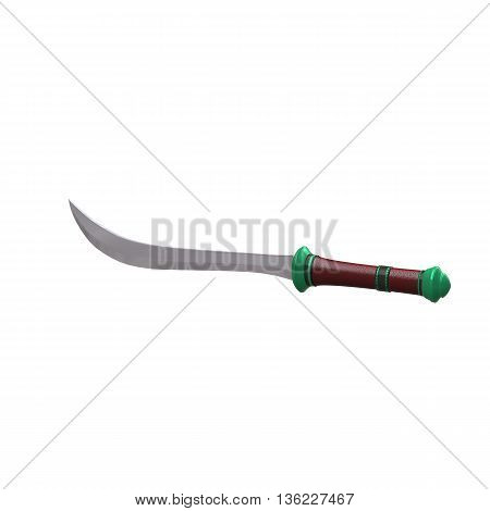 Isolated Sabre Weapon 3D Illustration
