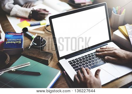 Online Studying Technology Concept