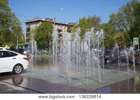 SAINT PETERSBURG, RUSSIA - MAY 15, 2016: Fountain