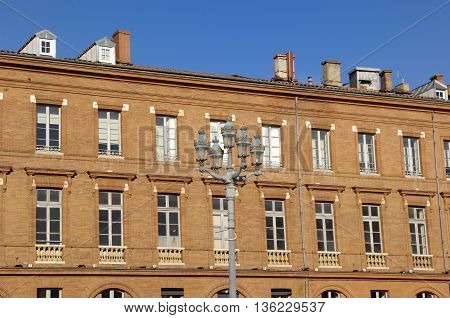 Building of the square Le Capitole, Toulouse, France