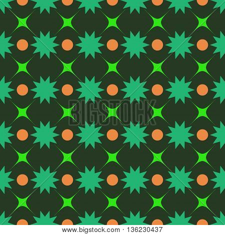 Circle and star seamless pattern.Fashion graphic background design. Modern stylish abstract texture. Colorful template for prints textiles wrapping wallpaper website etc. VECTOR illustration