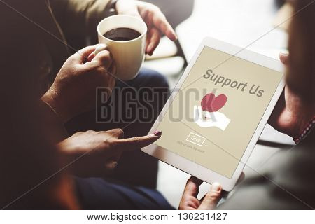 Support Community Cooperation Assistance Concept