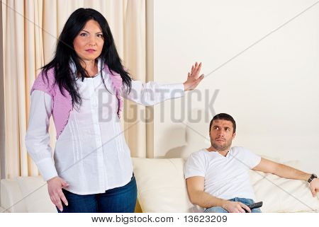 Furious Couple In Conflict