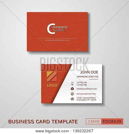 Vcard business card set red. Vector EPS10 - CMYK : FOGRA39