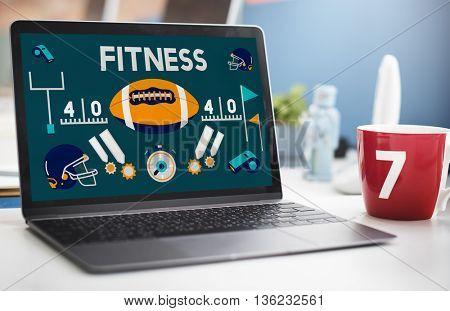 League Sport Fitness Exercise Training Teamwork Winner Concept