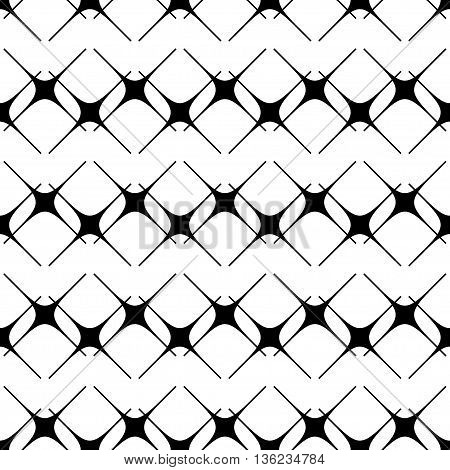 Star black seamless pattern .Fashion graphic background design. Modern stylish abstract texture. Monochrome template for prints textiles wrapping wallpaper website etc. VECTOR illustration