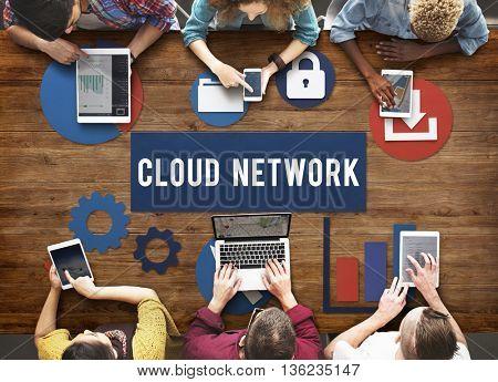Cloud Network Technology Connection Concept