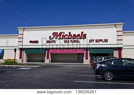 Indianapolis - Circa June 2016: Exterior of Michael's Craft Store. Michael's is an Arts and Crafts Retail Chain I
