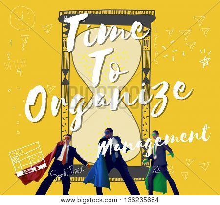 Time To Organize Management Graphic Concept