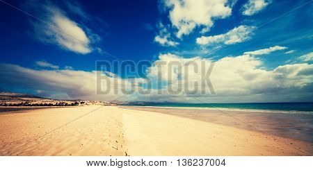 Sea beach and yellow sand