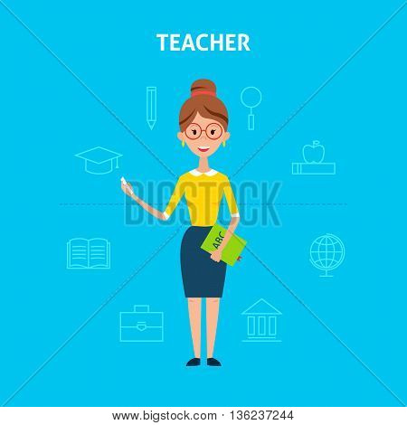 Teacher Woman Character Concept