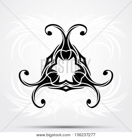 Vector illustration, art on a white abstract background