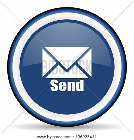 send round glossy icon, modern design web element