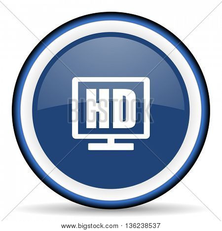 hd display round glossy icon, modern design web element