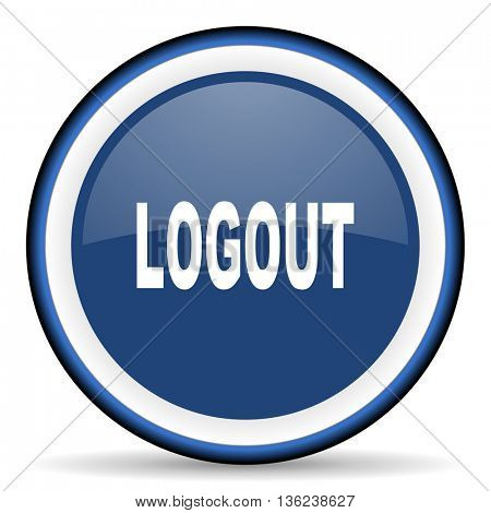 logout round glossy icon, modern design web element