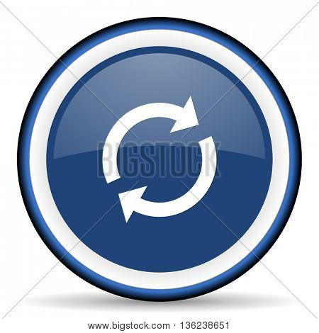 reload round glossy icon, modern design web element