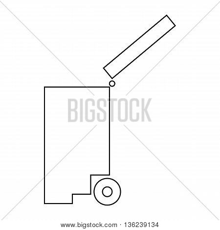 Trash bin icon in outline style isolated on white background