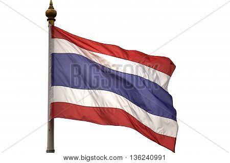 Thailand flag isolated on white background , Symbol