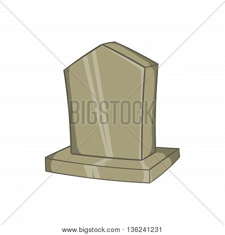Sepulchral monument icon in cartoon style isolated on white background. Death symbol