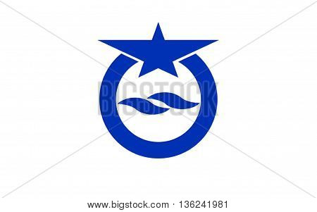 Flag of Otsu is the capital city of Shiga Prefecture Japan. 3D rendering