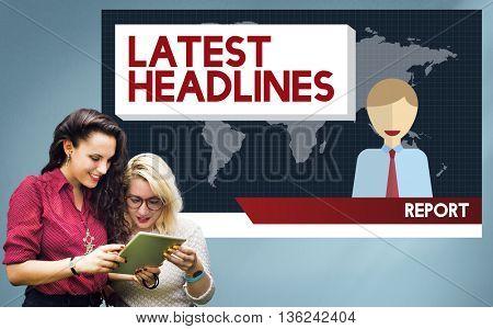 Latest Headlines Breaking Communication Important Concept