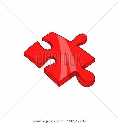 Piece of puzzle icon in cartoon style isolated on white background. Games and toys symbol