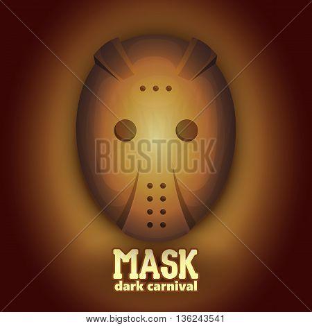 Scary hockey carnival mask. High dynamic range Vector illustration.