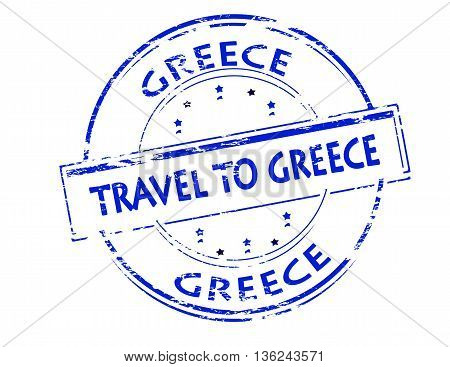 Rubber stamp with text travel to Greece inside vector illustration