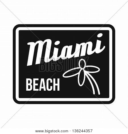 Miami beach icon in simple style isolated on white background