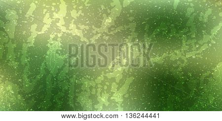 Abstract vector drawing card. attrition cracked green with a dark background