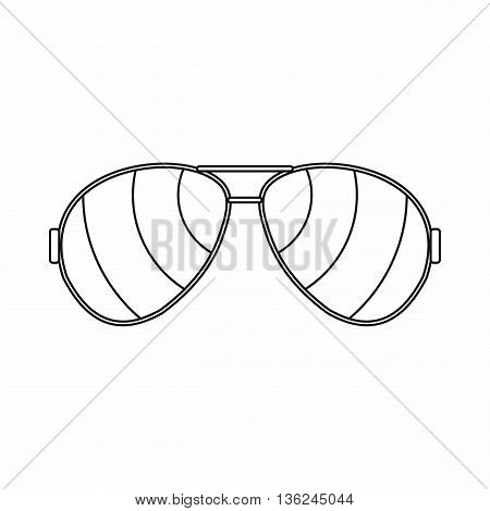 Glasses icon in outline style isolated on white background