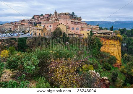View Of Roussillon, Provence, France