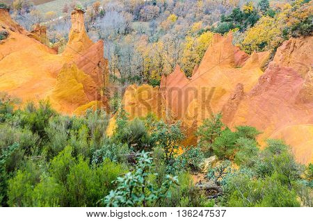 Colorful Cliffs In French Colorado, Provence, France