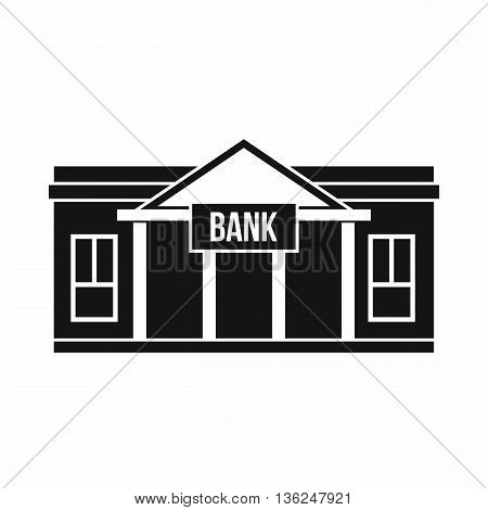 Bank building icon in simple style isolated on white background