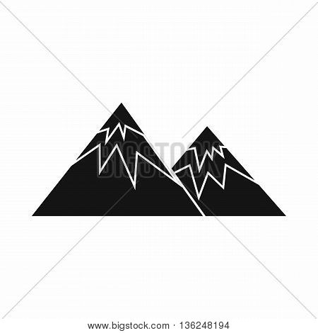 Swiss alps icon in simple style isolated on white background