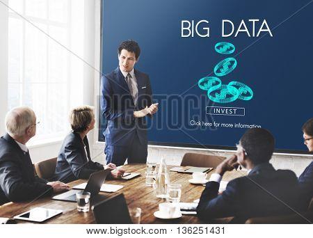 Big Data Digital Information Network Storage Concept