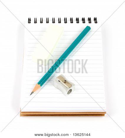 Notebook Pencil Sharpener Eraser