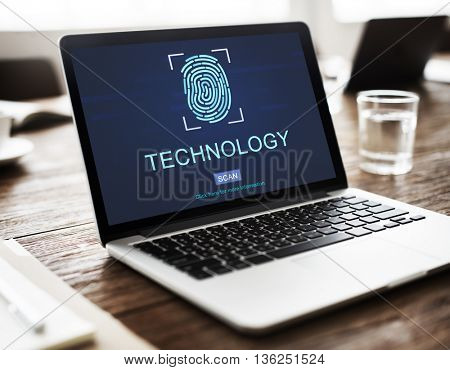 Technology Security Fingerprint Password Concept