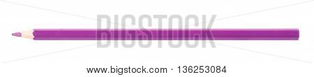 Single violet drawing pencil isolated over the white background