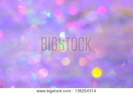 Abstract colorful bokeh background, Christmas holiday concept