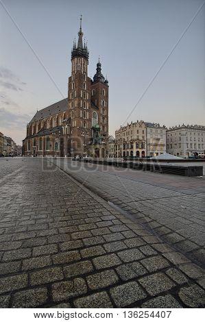 St. Mary's Church on Krakow Market Square